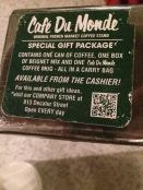 The Menu at Cafe du Monde®