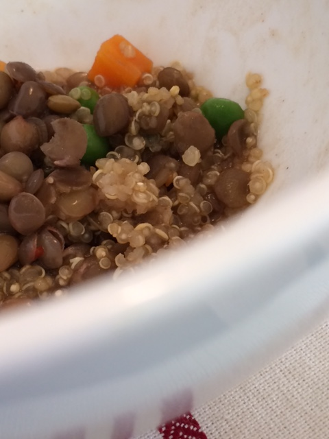 Served Lentils and Quinoa
