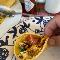 What to do with all the Holiday left overs?  Mexican Breakfast Tacos!